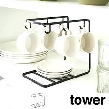 cup storage stand glass saucer rack tower dish steel tabletop tea holders display cu