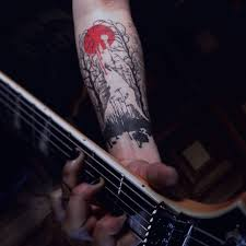 для At Ellelansen музыкальное татуировка тату волк белыйволк