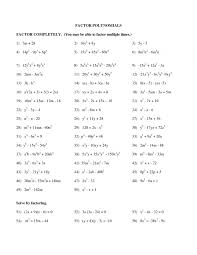 Worksheet : Factoring Polynomials Gcf Worksheet Review Of Adding And ...