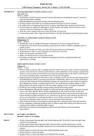 Implementation Consultant Resume Samples Velvet Jobs
