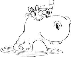Baby Hippo Coloring Pages Baby Hippo Coloring Pages Cute Singular