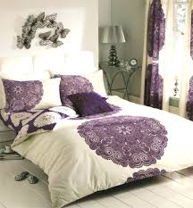 purple bedding king duvet cover with pillow case quilt cover bedding set cream purple purple bedding sets canada