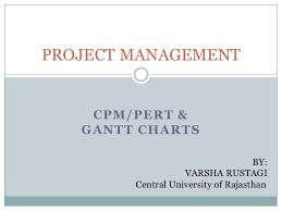 Pert Cpm Chart Cpm Pert And Gantt Charts