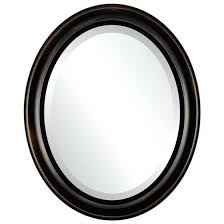 oval mirror frame. Interesting Oval Bronze Oval Mirror Beveled Frame In Rubbed Oil  For
