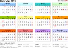 Week At A Glance Calendar Template Printable Year At A Glance Calendar 2019