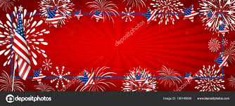 Usa Background Design Of America Flag And Fireworks With
