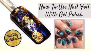 HOW TO USE NAIL FOIL WITH GEL POLISH | SIMPLE NAIL ART - YouTube