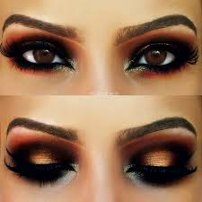 this arabic eye makeup with warm brown hues will make everyone will stop and stare when you strut this makeup