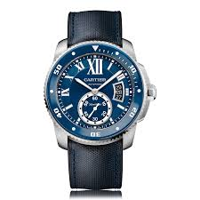 mens cartier watches the watch gallery cartier calibre de cartier diver automatic stainless steel blue dial mens watch wsca0010