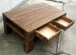 diy wood pallet coffee table with drawers pallet
