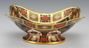 a royal crown derby old imari basket