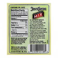 Jose Cuervo Light Margarita Mix Ingredients Margarita Mix Nutrition Facts