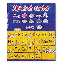 Learning Center Pocket Chart Learning Resources Alphabet Center Pocket Chart Abcs Letter Word Recognition 212 Pieces