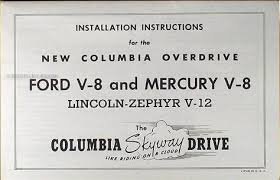 1941 1948 ford lincoln mercury columbia overdrive axle manual set of 4 1941 1948 ford lincoln mercury columbia overdrive axle manual reprint set of 4 items
