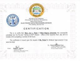 Ojt Certificate Completion Sample Format Cepoko Com
