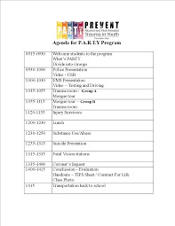 Party Agenda Templates Program For Party Magdalene Project Org