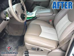 2001 2002 gmc sierra denali c3 leather seat cover passenger bottom 2 tone tan