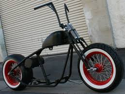 bobber mmw fatso hot rod style with white walls rolling chassis