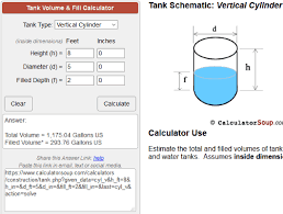 Vertical Tank Volume Chart Related Keywords Suggestions