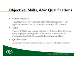 skills and qualifications résumés dr petit process of getting a job a résumé is one