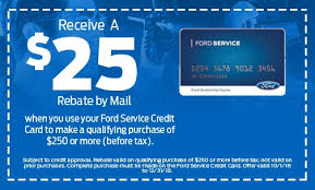 Explore all that your credit card account has to offer. Service Coupons Midwest Ford