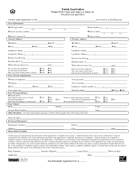 Apartment Application Form Free Minnesota Rental Application Form PDF EForms Free 24