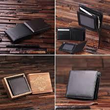 monogrammed mens leather wallet