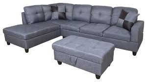 microfiber l shape sectional sofa with