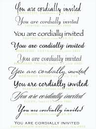 Best Fonts For Wedding Invitations Invite On Microsoft Word