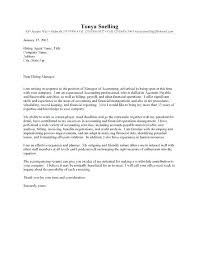 Cover Letter Accounting Management Accountant Cover Letter Cover