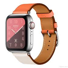 zlimsn new hermès apple watch band mix color leather watch straps 42mm 38mm applicable for iwatch
