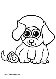 easy to draw cute puppies free printable dogs and puppies coloring pages for kids