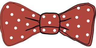 Polka Dot Bow Tie Photo Prop Template Free Printable