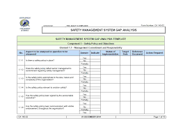 Employee Skill Assessment Template Gap Analysis Example Ohsas 18001 ...