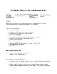 job resume call center customer service resume customer service