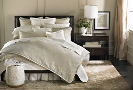 comfort and elegant barbara barry bedding barbara barry bedding with brown area rug also wainscoting