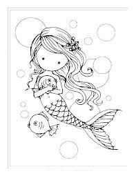 Printable Mermaid Coloring Pages On Page Cute 3 Mandala Detailed