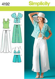 Wrap Pants Pattern Gorgeous Amazon Simplicity Pattern 48 Misses Wrap Pants In 48 Lengths