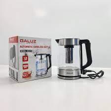 Ấm điện siêu tốc thủy tinh kiêm bình pha trà Galuz GK-01 dung tích 1.8 lít  - Hàng chính hãng - Bình đun siêu tốc Thương hiệu GALUZ