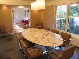 formal oval dining room sets. oval marble dining table in white with brown comfort chairs formal room sets m