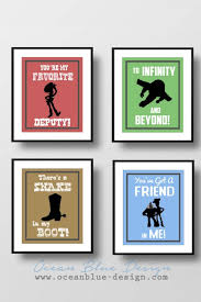 toy story prints set of 4 color background child room wall art  on wall art childs room with toy story prints set of 4 8 x10 prints child s room or nursery