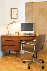 office midcentury with brown upholstered task chair image by thistle beauregarde llc chair mid century office