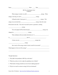 Science Energy Worksheets Free Worksheets Library | Download and ...