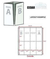 Quad Fold Brochure Template Word Roll Fold Brochure Template Panel Quad 4 Adobe Illustrator