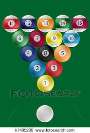 pool table balls clipart.  Pool Clipart  Pool Table Ball Triangle Fotosearch Search Clip Art  Illustration Murals And Table Balls L