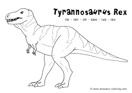 Small Picture T rex Coloring