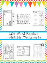 You may print the worksheets from either pdf or jpeg. 264 Word Families Worksheets Download Preschool 1st Grade Phonics Zip File