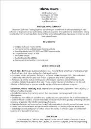 Resume Template Software Professional Software Testing Templates To Showcase Your Talent