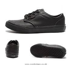 kids vans junior atwood leather trainer black cgyb664p1bvj