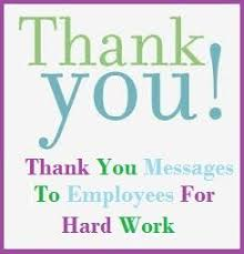 Thank You Note To Employee Appreciation Messages For Employees Sample Thank You Note For
